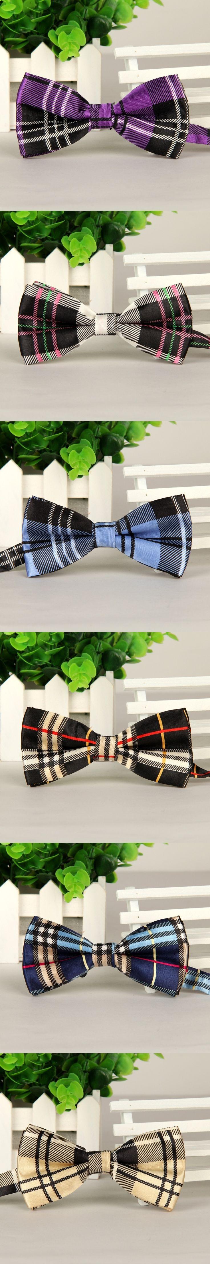 Fashion British Style Plaid Bowties Groom Men Gird Cravat gravata Male Marriage Butterfly Wedding Bow ties
