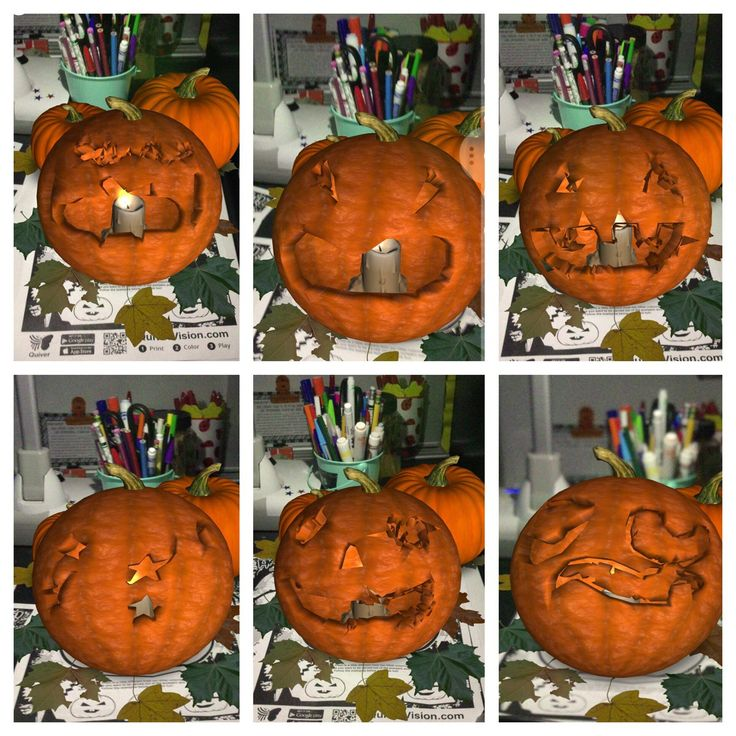 """Jenna Moreno on Twitter: """"Virtual pumpkin carving! Thank you Ms. Mohler for the app recommendation! 🎃🕸 #quivervision… """""""