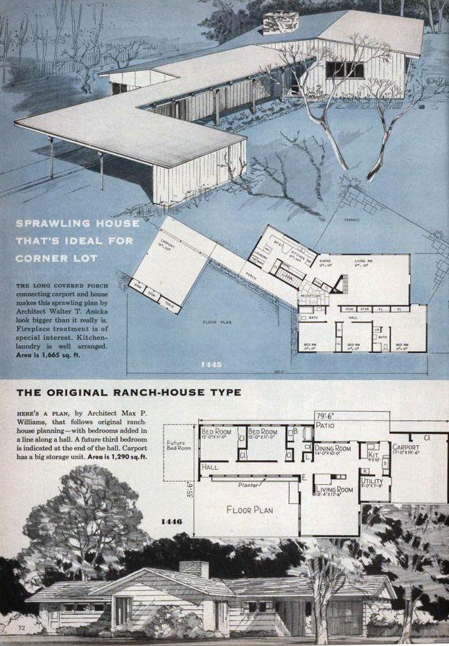 740 best Vintage House Plans images on Pinterest Vintage house