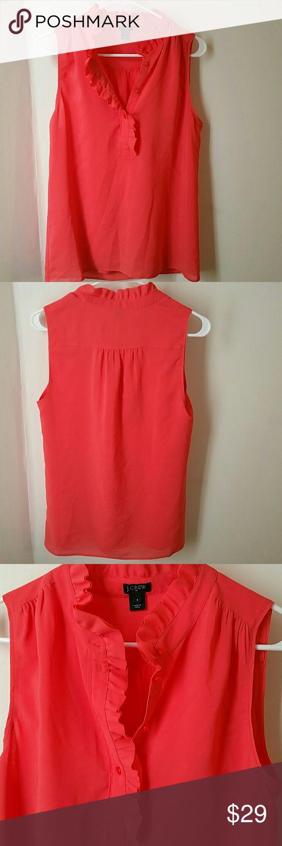 J.crew  color coral blouse size 6 Excelent Condition J. Crew Tops Blouses