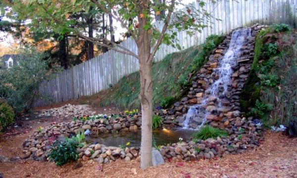 17 best images about outdoors on pinterest backyard for Home water feature landscaping