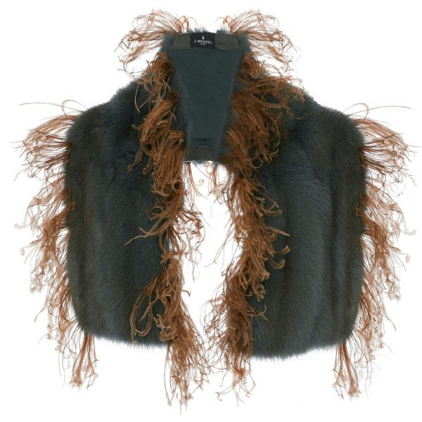 J. Mendel Sable Stole (€10.890) ❤ liked on Polyvore featuring accessories, scarves, brown, fringe scarves, brown shawl, brown scarves, j. mendel and fringe shawl
