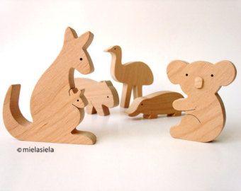 ALLE 4 Tiere  Bio Holzspielzeug  Tiere aus der ganzen Welt