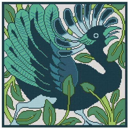 Antique Tile adaptation Mythical bird cross stitch pattern PDF. $4.99, via Etsy.