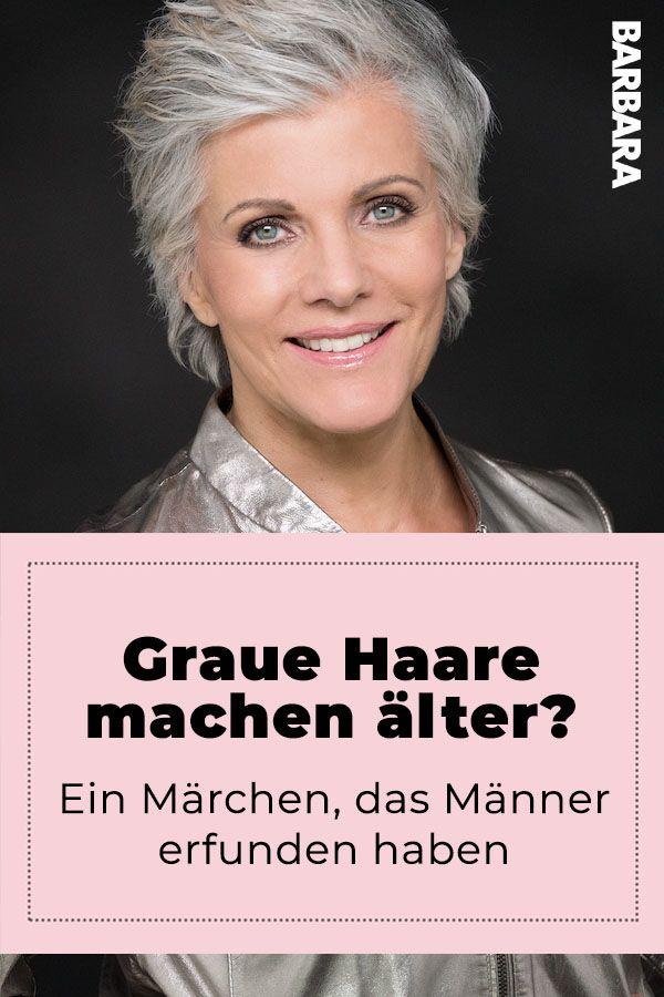 Graue Haare Machen Frauen Alter Ein Marchen Von Mannern Erfunden Graue Haare Frisuren Graue Haare Haare