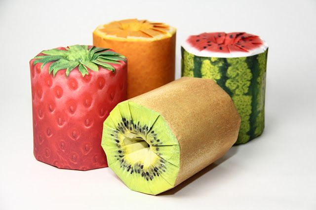Fruits Toilet Paper (Concept) on Packaging of the World - Creative Package Design Gallery