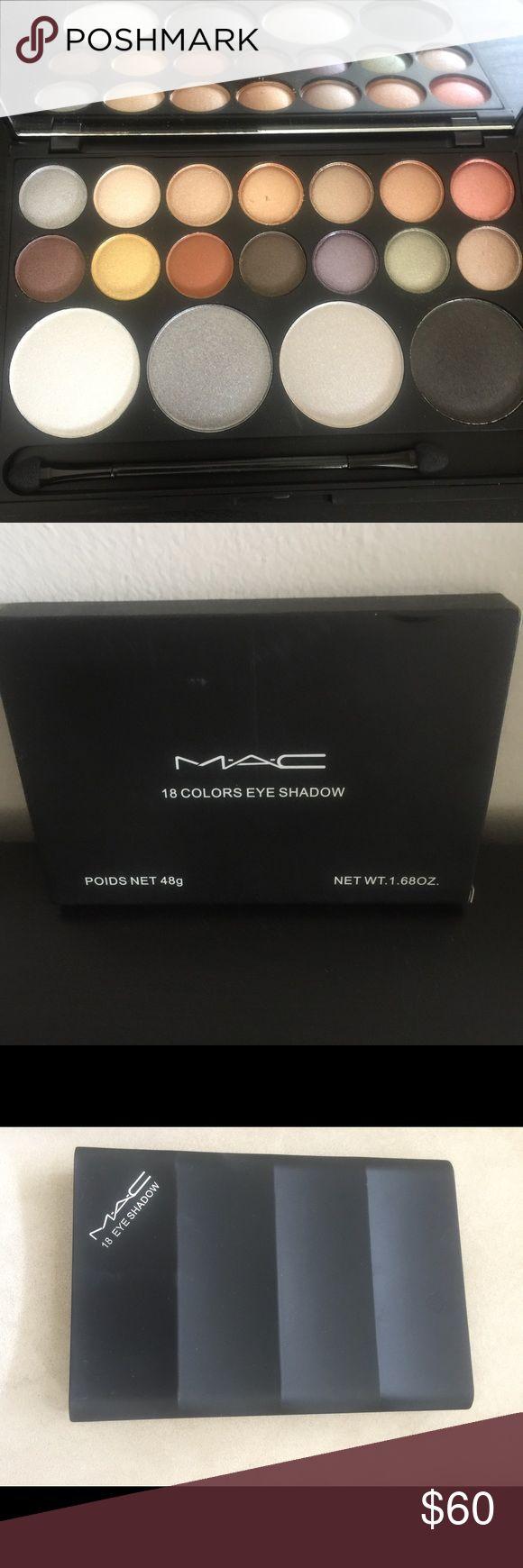 MAC eyeshadow make up palette 18 colors eye shadow 18 colors eye shadow palette MAC MAC Cosmetics Makeup Eyeshadow