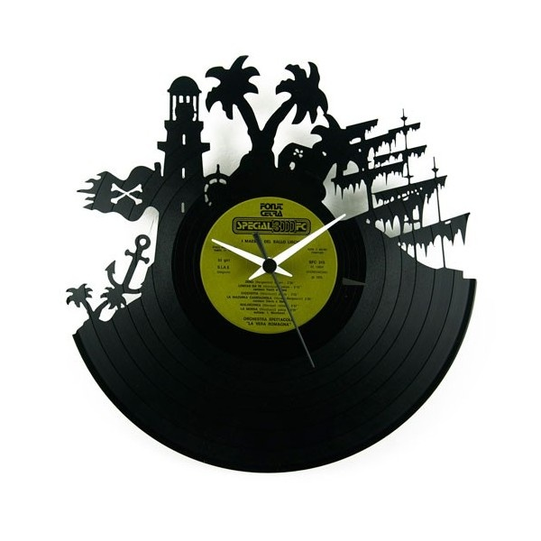 Wall clock island design. Can keep time everyday of the week!