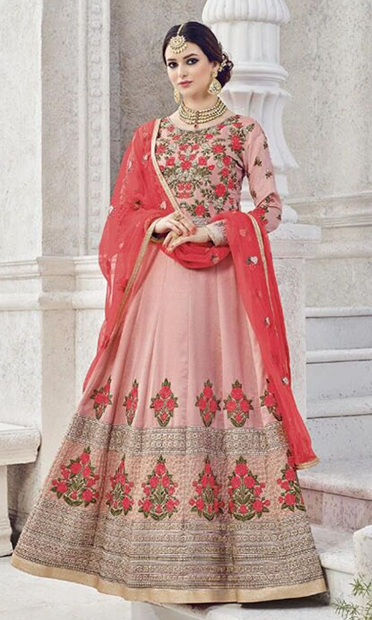 Buy online  #Pink Heavy  #Embroidered Frock  #Suit (SKU Code : SUEBRSYB-S208) at Ishimaya Fashion.