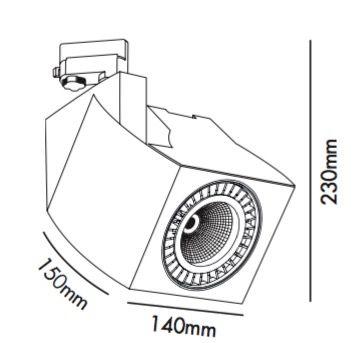 Foco de LED para riel específico para alimentación y retail -serieW003 | Tienda de lámparas, lámparas de LED, ventiladores de techo, decoración