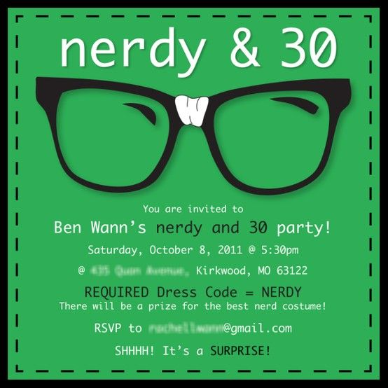 17 Best Images About Nerdy 30th Birthday On Pinterest