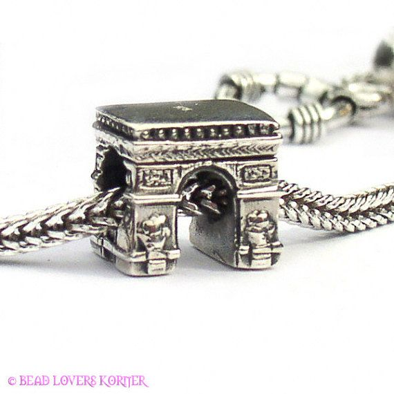I love the idea of getting a charm to represent each place we travel too. Paris Arc de Triomphe Landmark