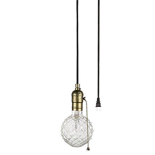 Globe Electric 65446 Edison 1-Light Plug-In Mini Pendant