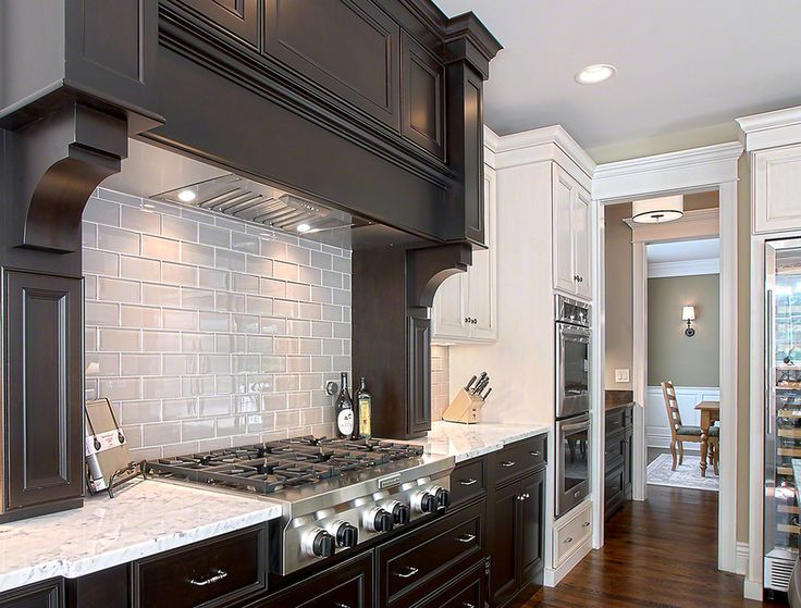 White With Gray Subway Tile Backsplash Kitchen Traditional ~ Glass Subway Tile  Kitchen: White, Part 89