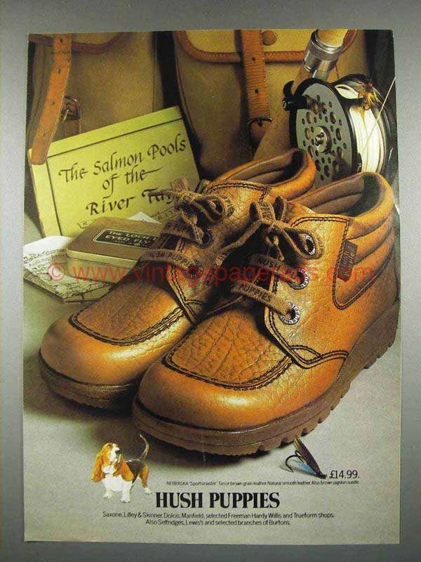 Az0576 1978 Hush Puppies Shoes Ad Fishing Shoes Ads Hush Puppies Shoes Hush Puppies