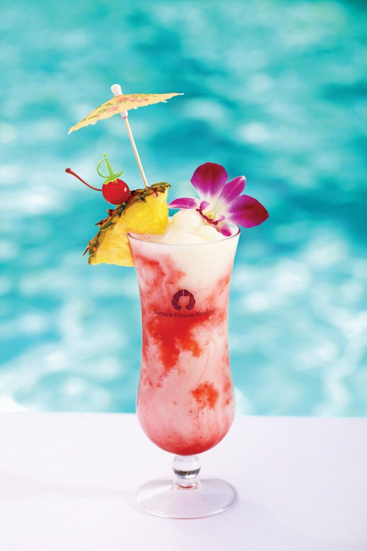 The BEST drink ever! Hawaiian Lava Flow: 1oz Light rum 1oz Malibu coconut rum 2oz strawberries 1 banana 2oz pineapple juice 2oz coconut cream Blend banana, coconut cream & pineapple juice in blender.In bottom of hurricane glass stir together both rums & strawberries. Pour fruit mix slowly into glass.Garnish with pineapple wedge