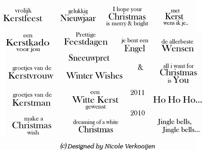 Kerst teksten