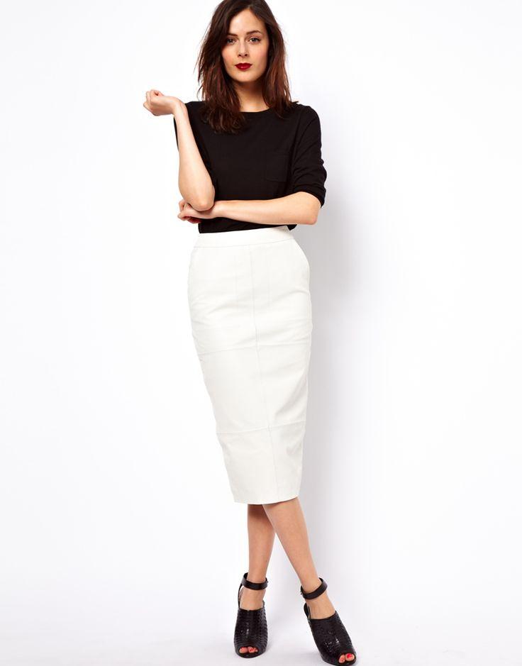 Best 25  White leather skirt ideas on Pinterest | Leather skirt ...