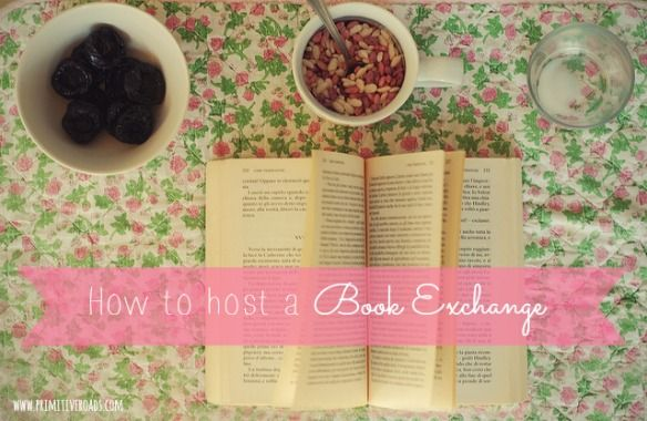How To Host A Book Exchange - Primitive Roads -- this is so cute and fun! I SO want to do this someday!! Great getting-to-know-you party idea and a great way to trade some fun reads! :)