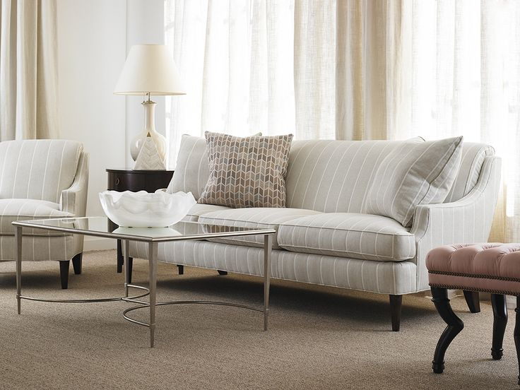 Sofa Slipcovers  Camille Sofa and Camille Chair with Eloise Ottoman