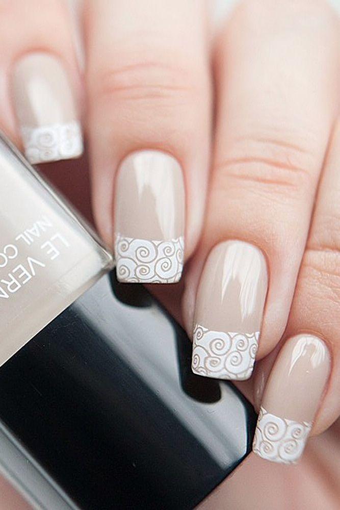 Cute Nail Design Ideas For Stylish Brides ❤ See more: http://www.weddingforward.com/nail-design/ #weddingforward #bride #bridal #wedding