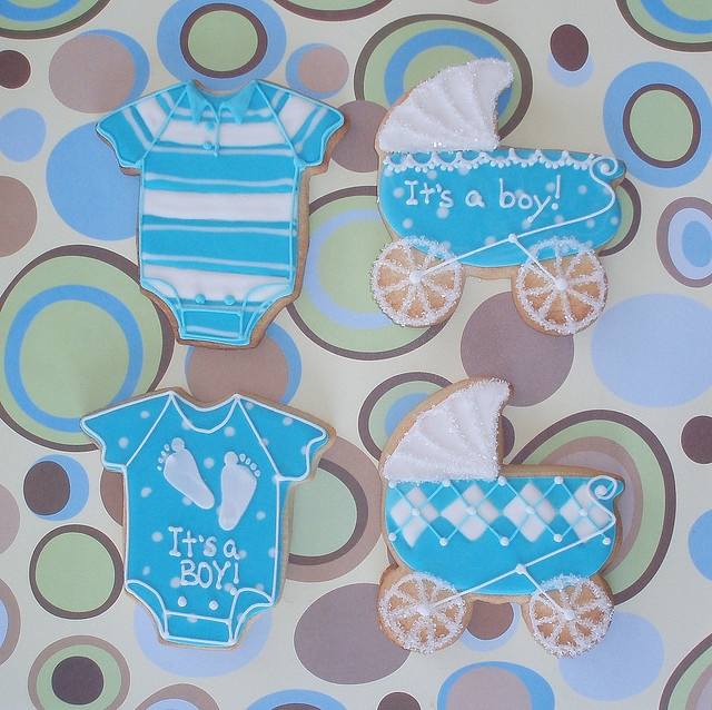 cookies favors baby showersblue