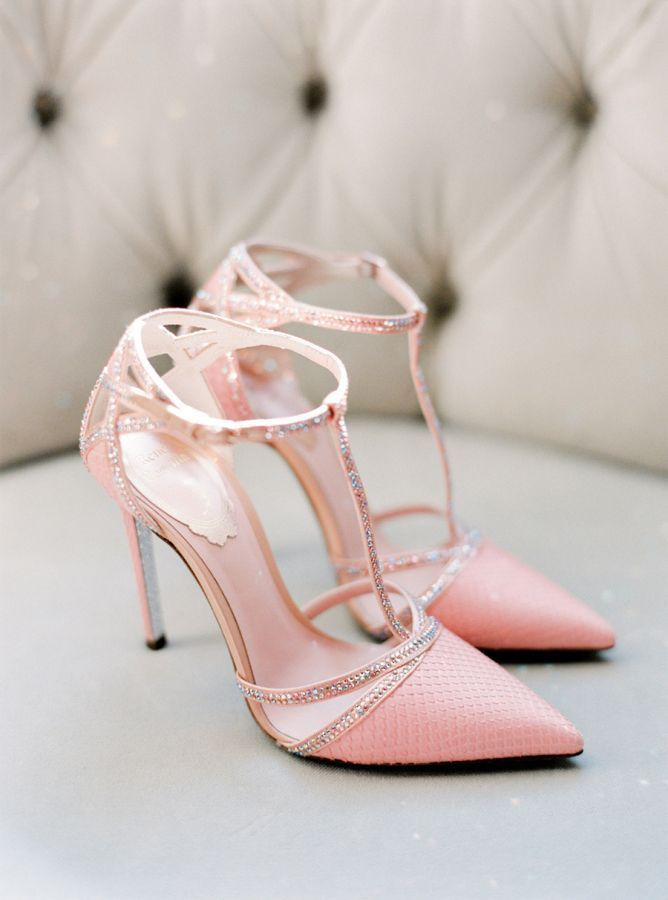 Chic Sparkly Pink Wedding Shoes Stylemepretty
