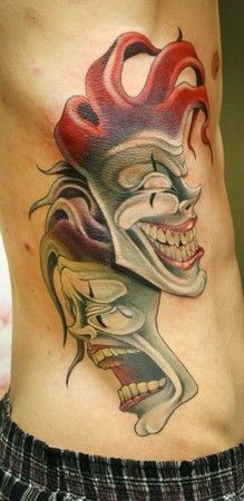 ... theater mask tattoo on Pinterest | Drama masks Mask tattoo and Smile