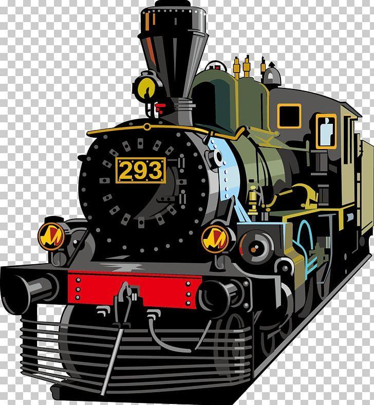 Train Rail Transport Steam Locomotive Png Car Encapsulated Postscript Engine Front Hand Drawn Rail Transport Steam Locomotive Train Drawing