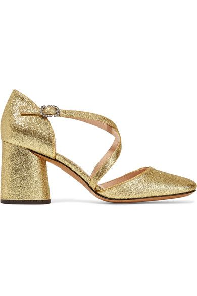 Marc Jacobs - Haven Glittered Leather Pumps - Gold - IT35.5