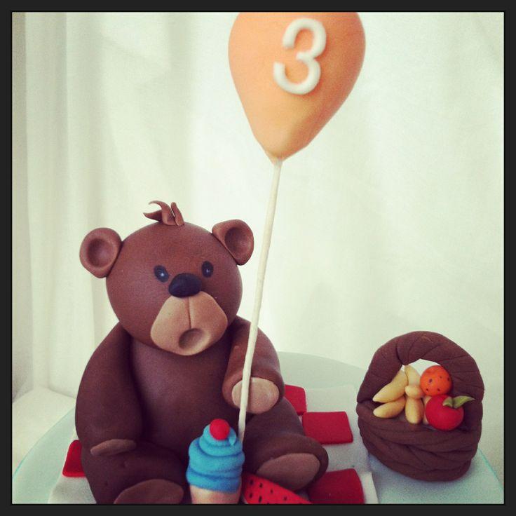 Teddy bear picnic cake topper