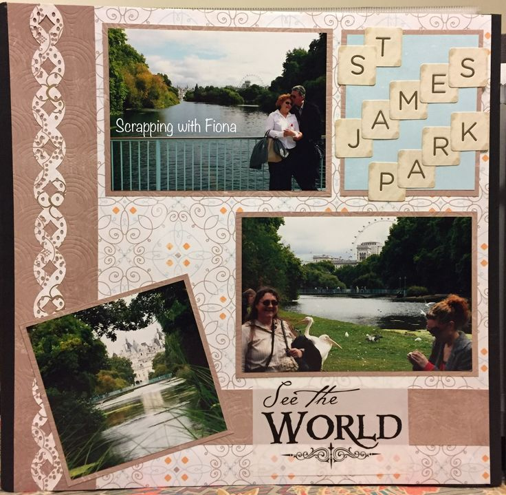 Simple layout using the Creative Memories border maker system  #scrapbooking #scrapbookinglayout  #scrapbookingideas