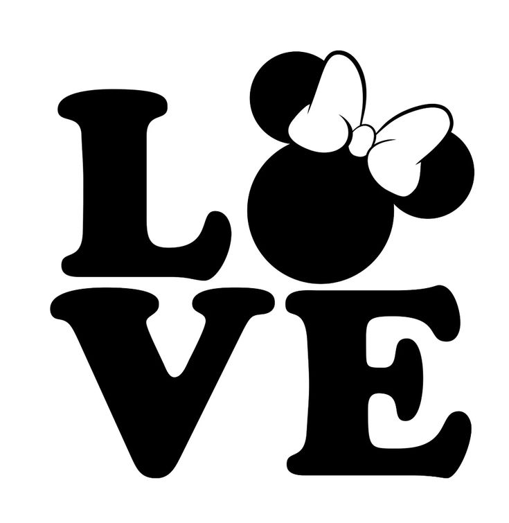 Download Love Disney SVG, Disney Clipart, Minnie svg, Love svg ...