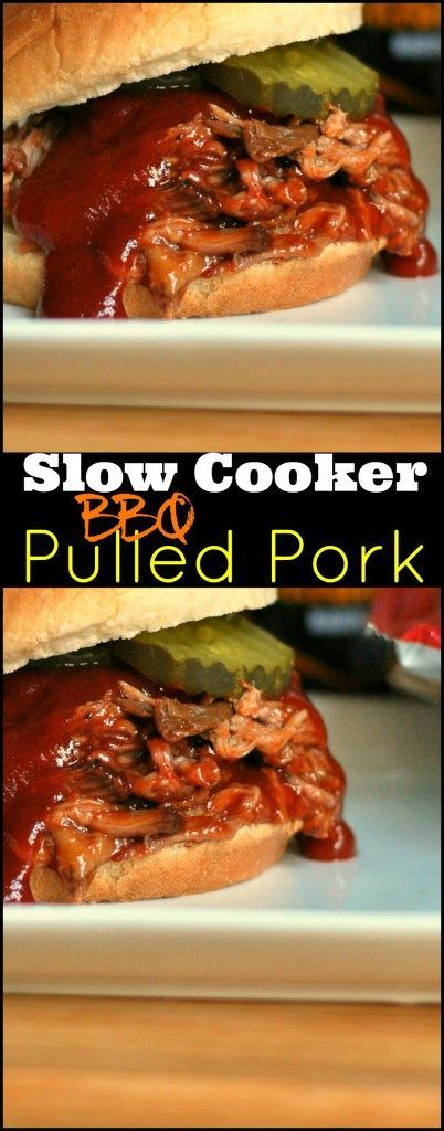 This Slow Cooker BBQ Pulled Pork is absolutely DELICIOUS and easy as can be! We love it in BBQ sandwiches, piled high on a loaded baked potato and even in BBQ Pulled Pork Nachos! (A local favorite!)