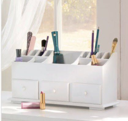 Photography Gallery Sites Vanity n Beauty Organizer with Drawers u Storage in White LDI http