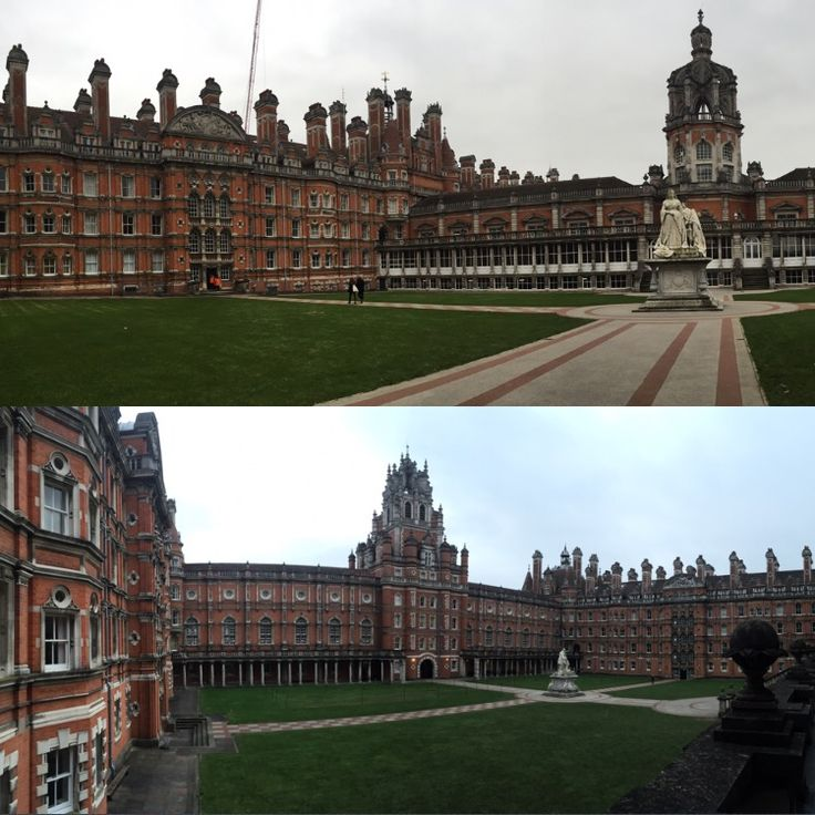 Royal Holloway University of London, Egham.  A view of the magnificent architecture of the university, founded in 1880s by Thomas Holloway.