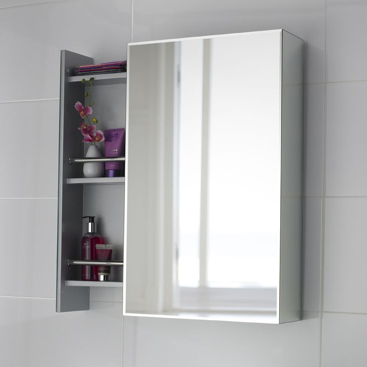 white bathroom mirror with shelf. bathroom mirror ideas to inspire you #bathroommirror tags: cabinet with white shelf