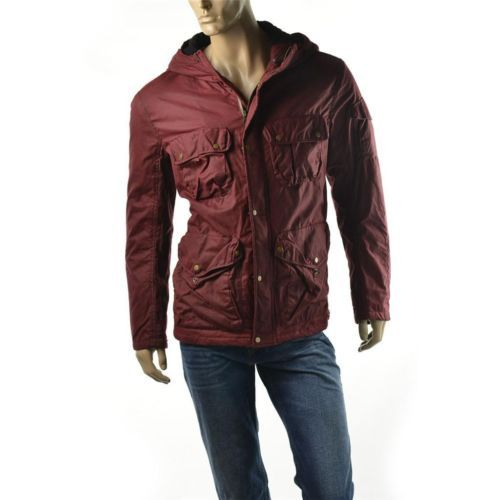 Armani Exchange Coat Mens A X Waxed Cotton Utility Parka Size L Jacket $325 NEW   Get Dressed at http://ImageStudio714.com http://stores.ebay.com/ImageStudio714