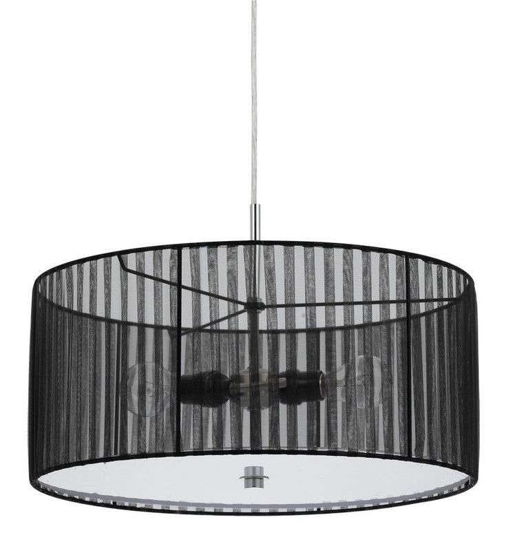 Sheer Black Drum Pendant Light 18 Quot W For The Home