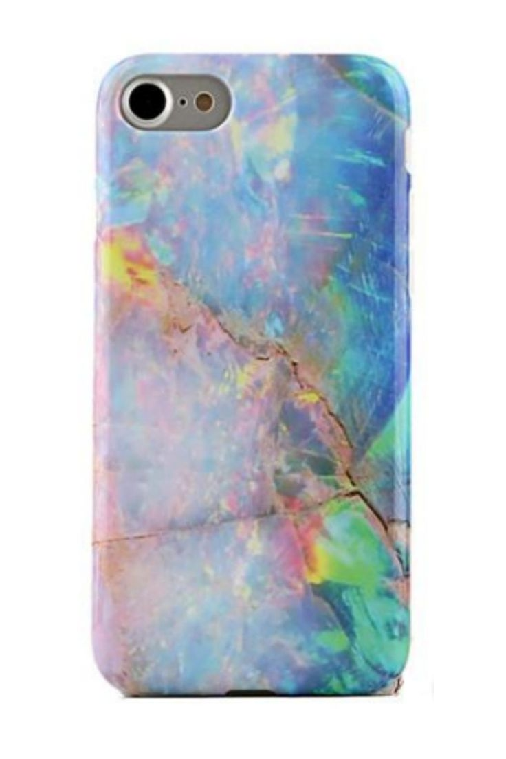Protective blue opal marble phone case (printed not iridescent) for an elegant look. The unicorn charger will be shown as an option after you add this case to your cart.       Opal Iphone 7 by Velvet Caviar. Accessories - Tech New York