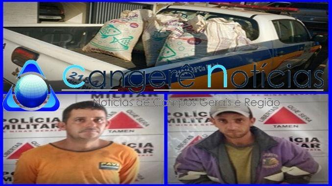 Policia Militar recupera carga de café roubado e prende os suspeitos em Campos Gerais-MG