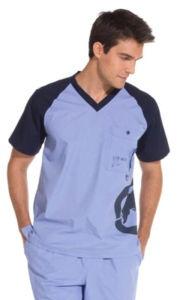 New Koi Mens Alex Tiger / Ecko Bleecker Rhino Print Scrub Top Nursing Uniform $25.99