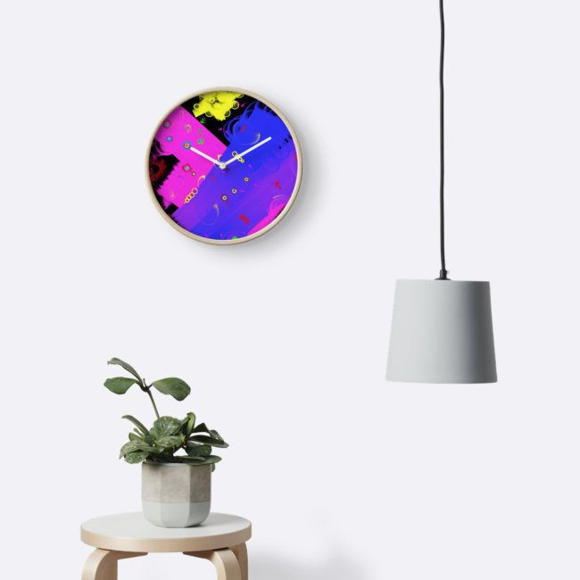 Wondering by Silvia Ganora #wallclocks #homedecor #abstract #clocks -20% off everything. Enter YOUEARNEDIT at checkout !