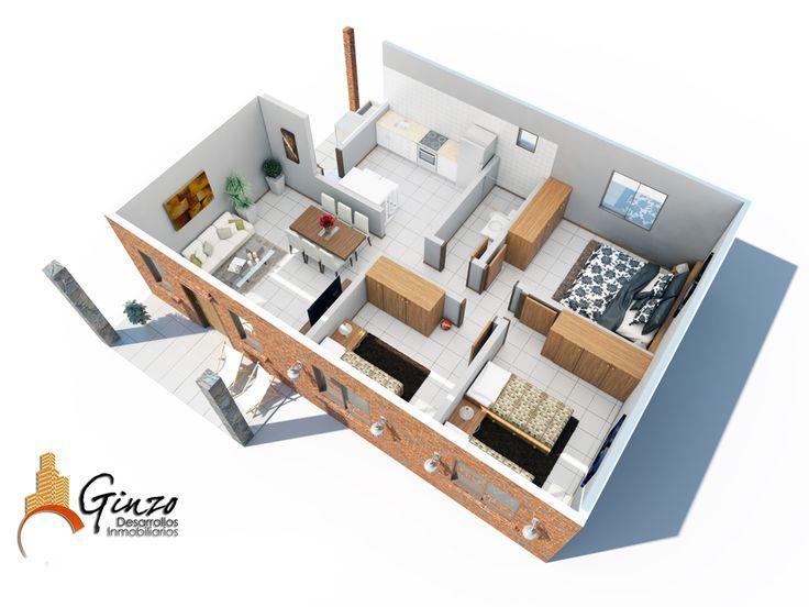 70 best ideas about maquetas de casas on pinterest for Habitaciones 3d gratis