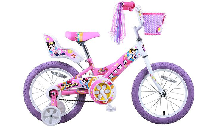 Titan Girl's Flower Princess BMX Bike, Pink, 16-Inch