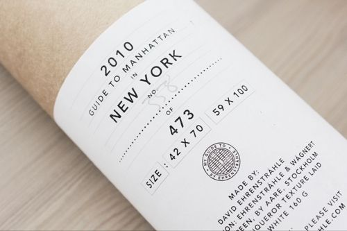 Package for a guide to Manhatten, New York