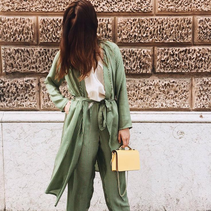 A stunning total Mes Demoiselles... Paris look with our Safin Kimono and Noah pants. We love its delicate white and green stripes which energize the look. Many thanks to Giuliabbigliamento shop — https://mesdemoisellesparis.com/e-shop/en/dresses/dress-safin —https://mesdemoisellesparis.com/e-shop/en/pants-shorts/pants-noah