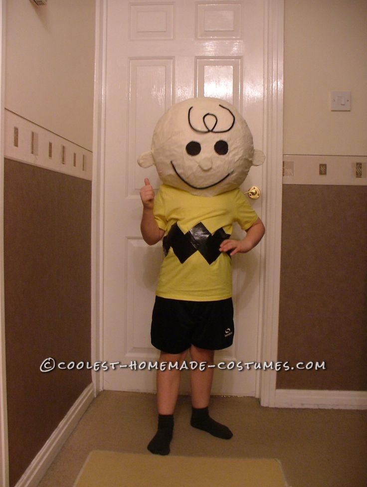 Charlie Brown Costume for World Book Day... This website is the Pinterest of costumes