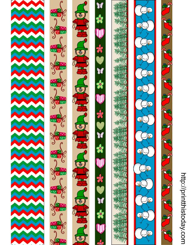 washi tapes for Christmas