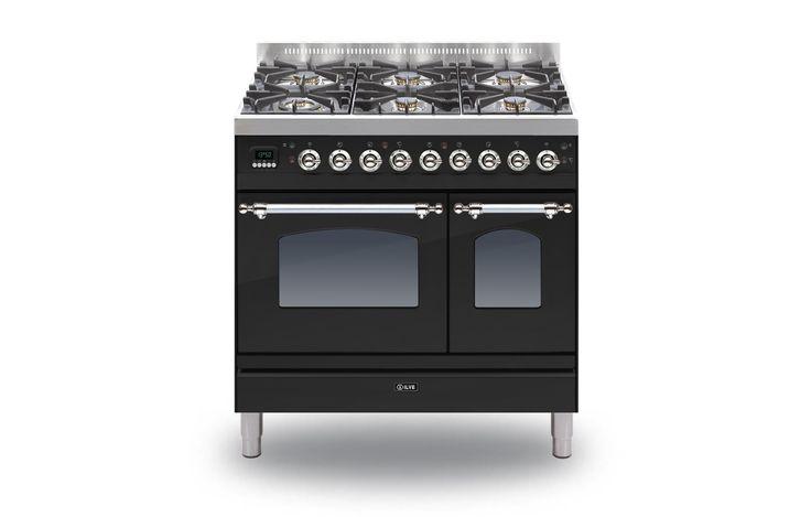 ILVE Milano 90 Twin 6-burner Range Cookers   Rangecookers.co.uk